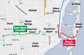 Miami Dade Map Miami Dade Plans To Build 6 New Mass Transit Lines Again Curbed