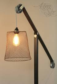 Floor To Ceiling Lamp Vintage by Industrial Zinc Pulley Floor Lamp Pottery Barn Knockoff The