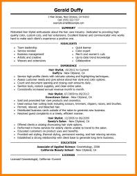 hairstylist resume resume cv cover leter