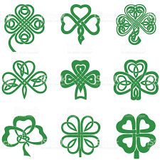 celtic knot clipart four leaf clover pencil and in color celtic