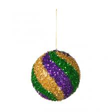 mardi gras ornaments 100mm tinsel swirl ornament mardi gras xj4307tc