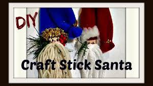 Gnome Ornament Christmas Craft Stick Santa Ornament Gnome Ornament Easy Diy Christmas