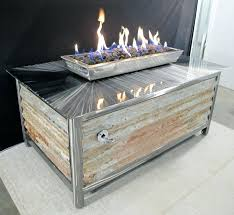 gas fire pit table uk outdoor gas fireplace table outdoor essentials rectangular modern