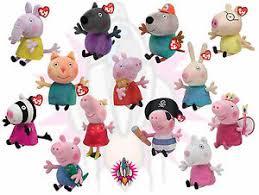 Peppa Pig Plush New Ty Beanie Babies Peppa Pig And Friends Plush 6 Soft Brand