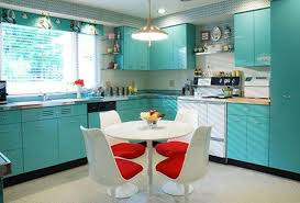 turquoise and red kitchen decor kitchen design