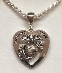 marine jewelry marine 39s heart pendant marine marine or