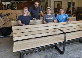 isu industrial design students produce outdoor benches for new