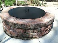Firepit Cover Great Pit Cover With Room For Drinks On Capstones Pit