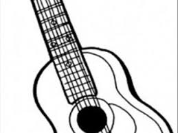 guitar colouring pages 6 string guitar coloring free