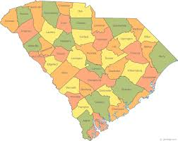 usa carolina map map of south carolina
