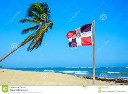 Domenican Flag Dominican Republic Flag Stock Photo Image Of Ocean Republic
