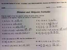 Midpoint Of A Line Segment Worksheet Alg Ii Trig Mrs Aujero U0027s Website
