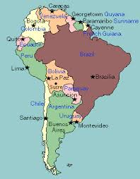 map of south america test your geography knowledge south america capital cities