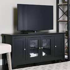 media console with glass doors amazon com walker edison 53