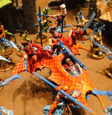 amazing dark eldar harlequin themed army from fob spikey bits