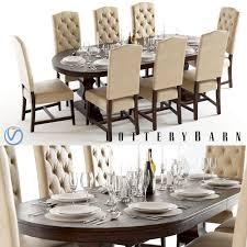 pottery barn banks table u0026 ashton chairs tufted