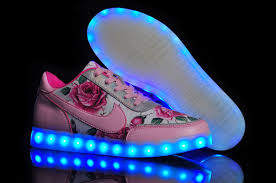led lights shoes nike nike low light up multicolored led lighting white pink for girls 3 jpg
