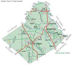 Texas Road Conditions Map Wharton County The Handbook Of Texas Online Texas State