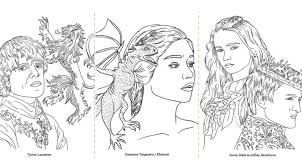 cersei lannister game of thrones coloring book oficial coloring