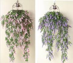 greenery garland 2pcs hanging artificial lavender flower wall garland vine
