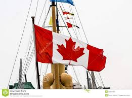 Giant Canadian Flag Canadian Flag On Old Ship Stock Image Image Of Ship 53302451