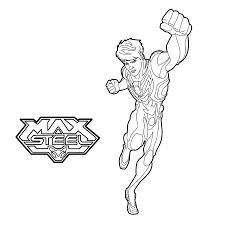 max steel para colorir