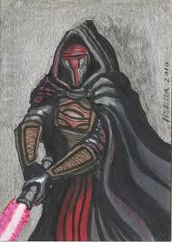 darth revan sketch card metal by halhefnerart on deviantart