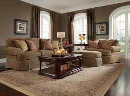 warm modern interior living room design ideas with modern brown in