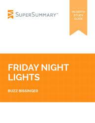 friday night lights book summary sparknotes friday night lights summary supersummary