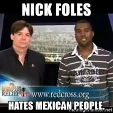 Nick Foles Meme - nick foles hates mexican people mike myers and kanye west