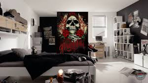 miami ink red tattoo skull wall mural u2013 funky store