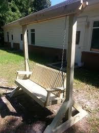 Swing Bench Outdoor by Modified Bench Swing Do It Yourself Home Projects From Ana White