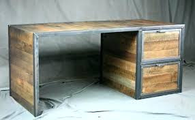 Diy Metal Desk Distressed Wood Furniture Distressed Wood Desk Office Barn Wood