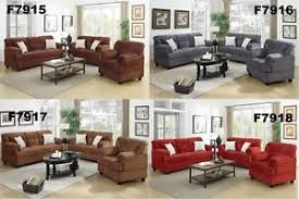 Microfiber Living Room Furniture  Pc Sofa Set Sofa Loveseat - Microfiber living room sets