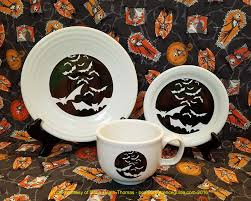 fiesta halloween bats by homer laughlin china
