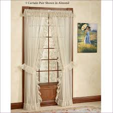 Burlap Ruffled Curtains Living Room Priscilla Swag Curtains Full Kitchen Curtains White