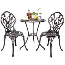 Copper Bistro Chair Goplus Hw49512 Outdoor Patio Furniture Cast Aluminum Tulip Design