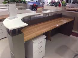 Commercial Reception Desk High Gloss Nail Salon Half Modern Design Reception Desk