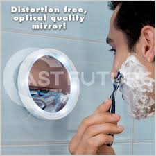 makeup mirror shaving mirror glass vacuum suction cup led light