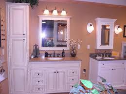 Antique Bathroom Medicine Cabinets - brown white bathroom decoration using round bell white glass