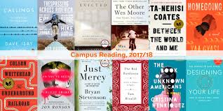 what students will be reading campus common reading roundup 2017