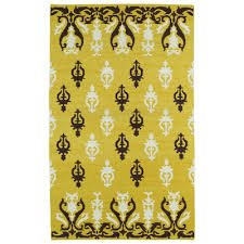 Yellow Area Rug 4x6 Kaleen Glam Yellow Area Rug Rug Size Products Pinterest
