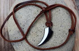 mens wolf tooth necklace images Fang necklace men 39 s leather claw necklace adjustable wolf tooth jpg