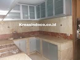 Kitchen Set Aluminium Kitchen Set Aluminium Pemasangan Di Tebet Barat 5 Jakarta