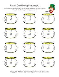 st patrick u0027s day multiplication facts to 81 lucky u0027s pot of