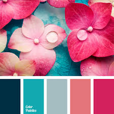 pink color schemes shades of pink and blue color palette ideas