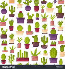 Home Interiors Mexico by Vector Illustration Cartoon Cactus Background Vector Stock Vector