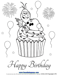 olaf cupcake coloring pages printable