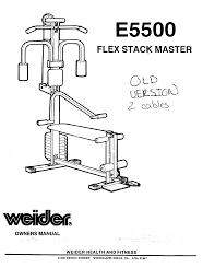 weider fitness equipment flex stack master gym bench e5500 pdf
