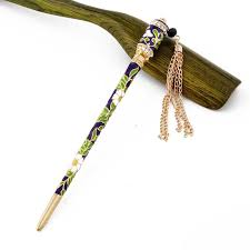 chopsticks for hair aliexpress buy simple rhinestones vintage cloisonne tassels